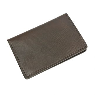 Italian Leather Card Holder (Brown)