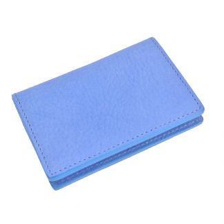 Italian Leather Card Holder (Cobalt Blue)