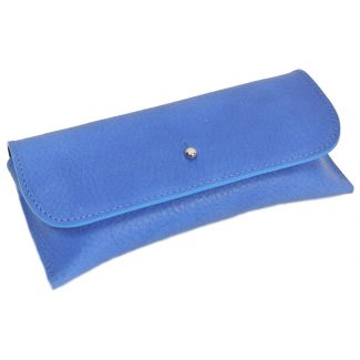 Italian Leather Glasses Case (Cobalt Blue)