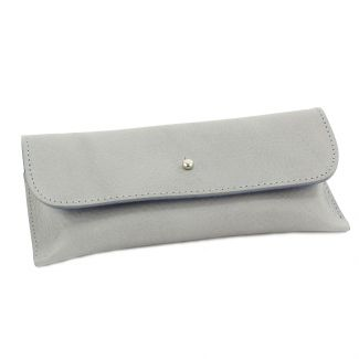 Italian Leather Glasses Case (Grey)