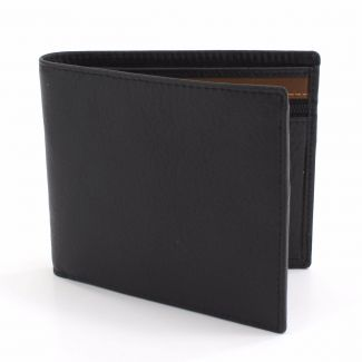 Kingston Bi Fold Wallet - Black/Tan