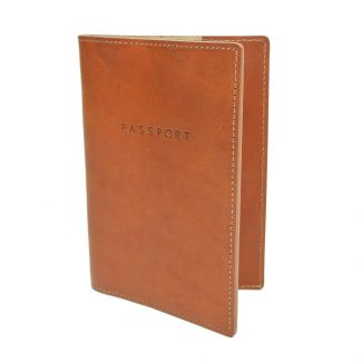 Italian Leather Passport Cover (Tan)