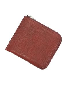 Italian Leather Zip Wallet (Burgundy)