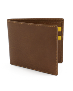Kingston Bi Fold Wallet - Saddle Tan/Yellow