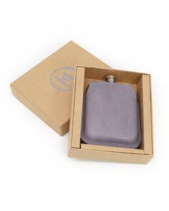 Steel Hip Flask & Italian Leather Sleeve