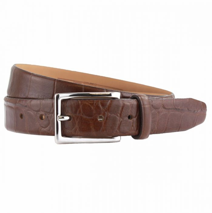 5cf0965cfdda Men s Croc-Embossed Leather Belt