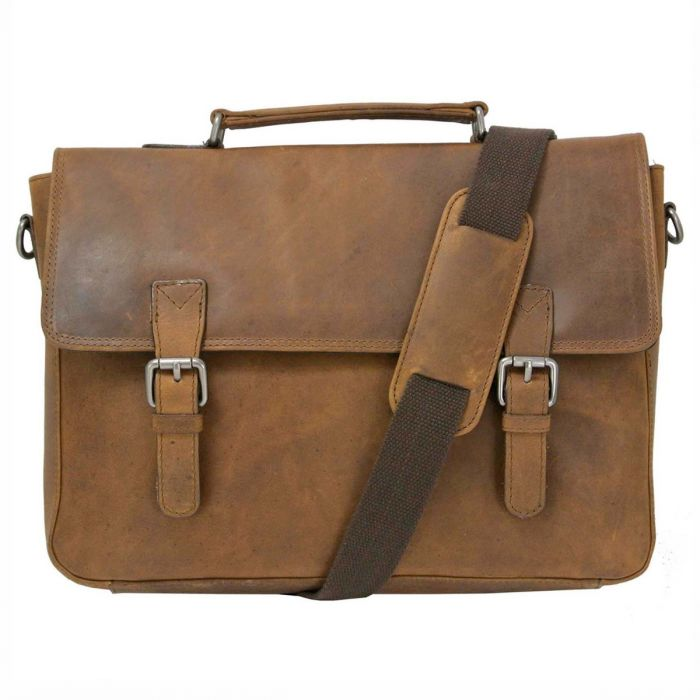 2b7b7971 Men's Dark Brown Vintage Leather Satchel | Oakhurst Mens Belts ...