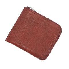 Italian Leather Zip Wallet (Burgundy)