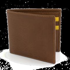 Kingston Bi Fold Wallet - Saddle Tan/Yellow