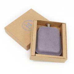 Steel Hip Flask & Italian Leather Sleeve