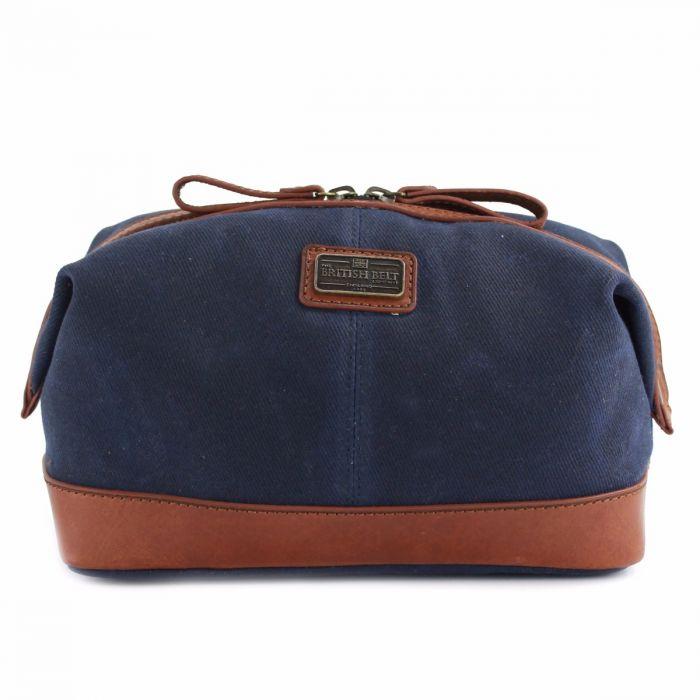 Men s Blue Leather Wash Bag  9880aad8fcf14