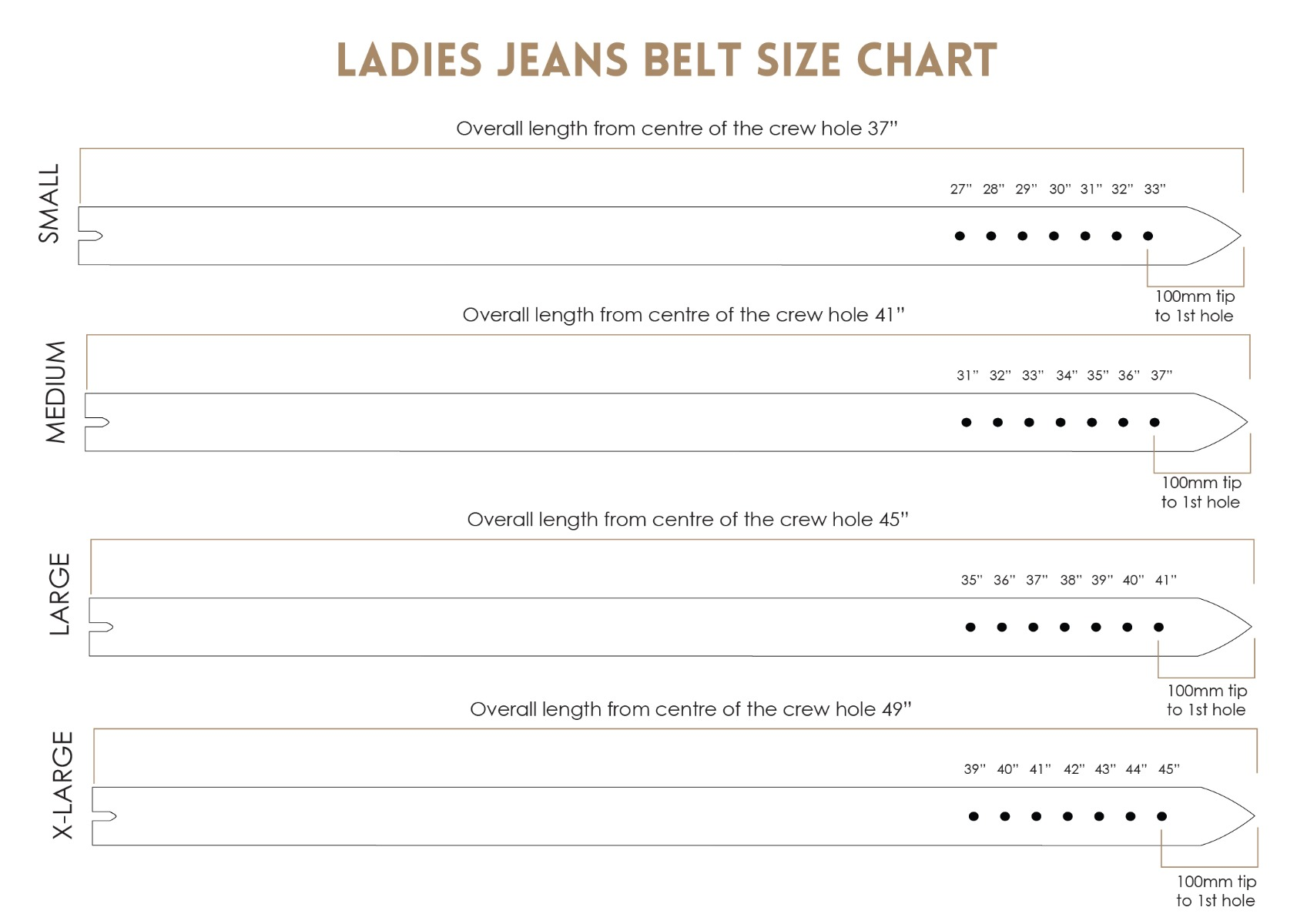 Mens and ladies british belt size guide the british belt company ladies jean size chart nvjuhfo Choice Image